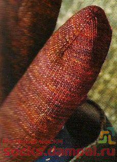 тапочки вязаные спицами