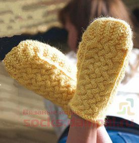 носки тапочки спицами