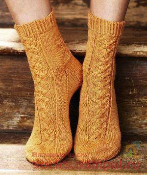 вязаные носки с узором