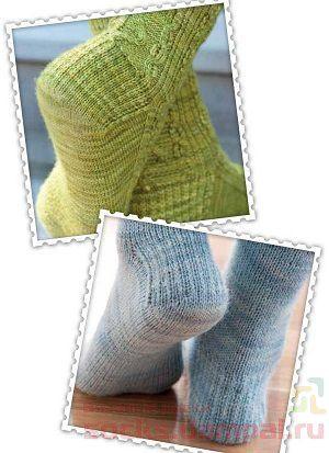 Вязание носков варианты пятки
