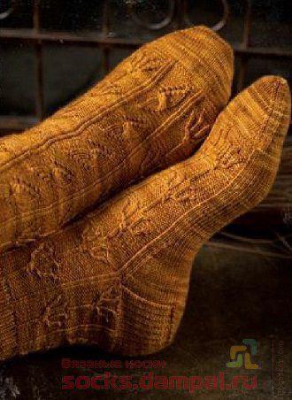 мужские носки спицами