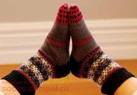 детские носки спицами