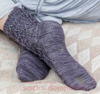 носки вязаные спицами