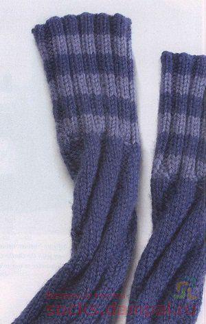 носки по спирали