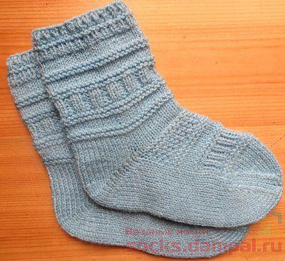 детские вязаные носки