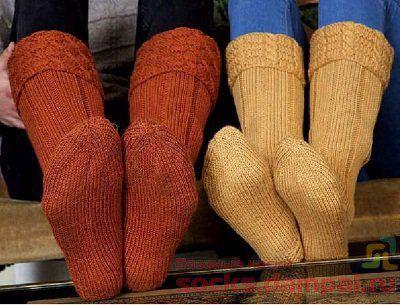 высокие вязаные носки