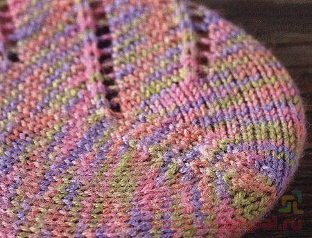 простые вязаные носки