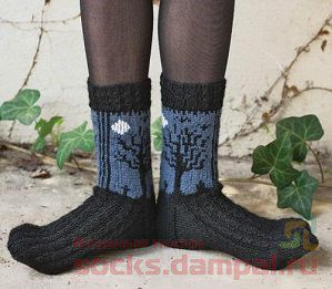 вязаные носки для сна