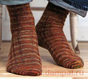 вязаные мужские носки в полоску вязаные носки