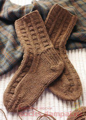 вязаные носки с простым рисунком вязаные носки
