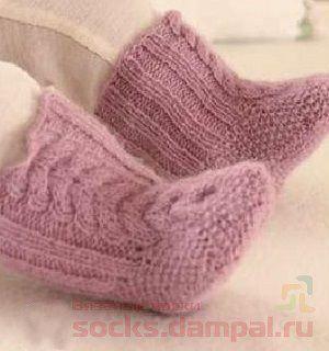 пинетки носочки спицами