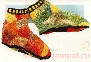 необычные вязаные носки