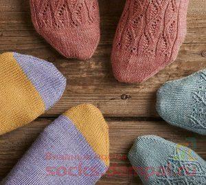 вязание мыска носка