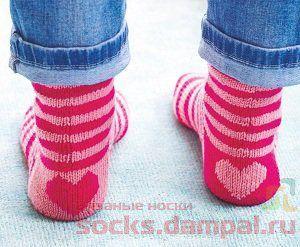 полосатые носки спицами