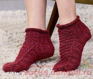 вязаные тапочки-носки