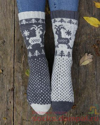 жаккардовые носки